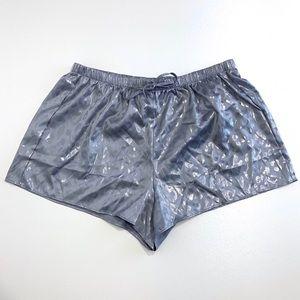 Victoria's Secret Cheetah Print Satin Shorts Sz S